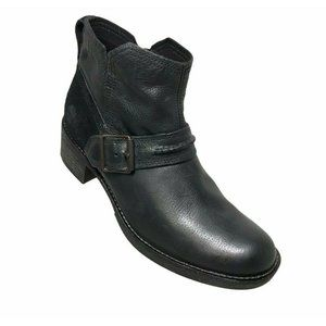 TIMBERLAND WHITTEMORE CHELSEA BLACK LEATHER BOOTS